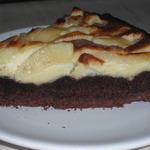 crostata nera con crema al mascarpone e mele