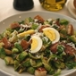 Warm Brussels Sprout Salad with Bacon