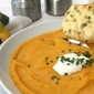 Butternut Squash Soup with Cheesy Garlic Parmesan Bread