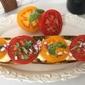 Cheesy Heirloom Tomato and Basil Crustini