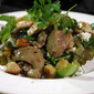 Warm Chicken Liver and Gorgonzola Salad