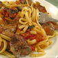 Pasta with Chicken Livers and Sage; food horses