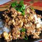 Japanese Mabo Tofu with eggplant