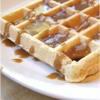 Tempting Homemade Freezer Waffles with Nutty Maple Syrup