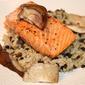 Salmon with Red Wine & Shiitake Mushrooms