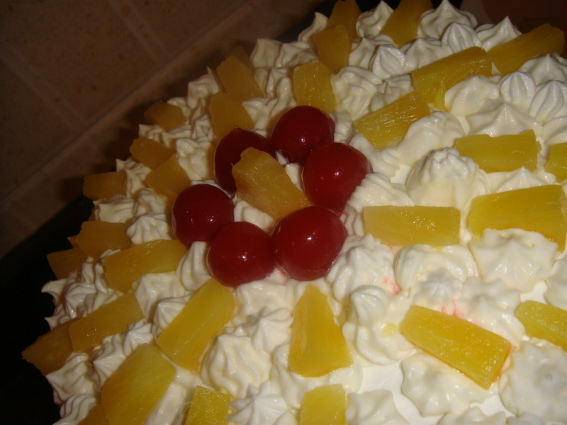 Cream Cake Recipe In English: Fresh Cream Pineapple Cake Recipe By Sania