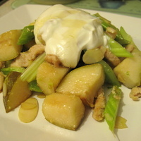 Warm Honey Turkey and Pear Salad