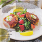 Maine Crab Cakes with Watercress and Strawberry Salad