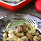 Savory Bread Stuffing with Herbs & Sausage Recipe
