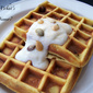 Pumpkin Chocolate Chip Waffles with Cinnamon Vanilla Yogurt