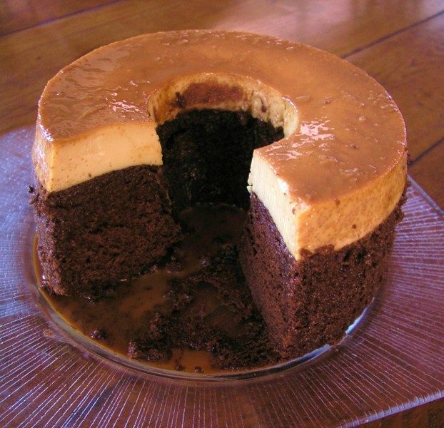 Mexican Chocolate Flan Cake