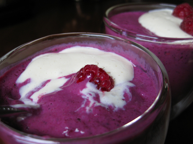 Vegan Tofu Berry Custard