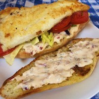 Baja Fish Sandwich with Chipotle Tartar Sauce