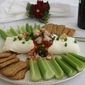 Holiday Appetizer – Shrimp and Cream Cheese Roll with Crackers