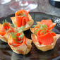Smoked Salmon & Horseradish Mascarpone in Wonton Cups Recipe