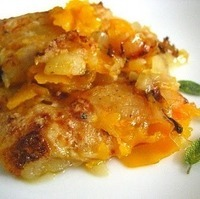 Butternut Squash Gratin w/ Apples & Caramelized Onions