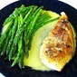 Gluten Free Lemon Chicken with Asparagus and Lemon Garlic Hollandaise Sauce