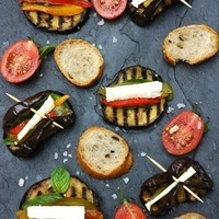 Antipasto Eggplant Stacks