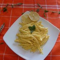 Maccheroni al limone. Sardinia Island.