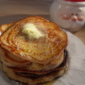 Applesauce Pancakes with a Spicy Apple Syrup