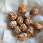 Hanukah Cheese Fritters with Dried Fig Jam and Creme Fraiche