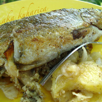 Stuffed trout