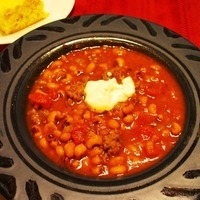 Good Luck Black-Eyed Pea Crockpot Chili