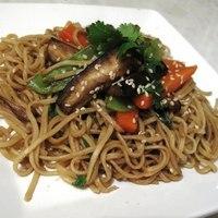 Aubergine Chow Mein Stir Fry