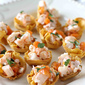 Shrimp & Persimmon Salsa in Toasted Corn Tortilla Cups Recipe