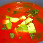 Vegan tortilla soup with New Mexico chiles