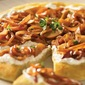 Healthy party appetizers: Caramelized Pear and Onion Flatbread