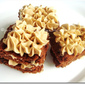 Layered Brownies Sandwich With Moka Buttercream