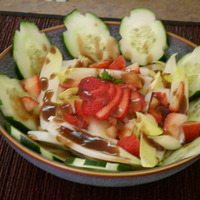 Strawberry Salad with Strawberry vinegarette