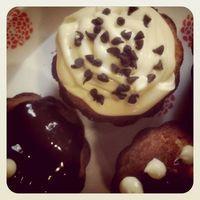 Muffins de tres chocolates