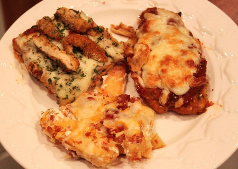 Leftover Sauce Chicken Parmesan Pizza Loaded Steak Fries Recipe By