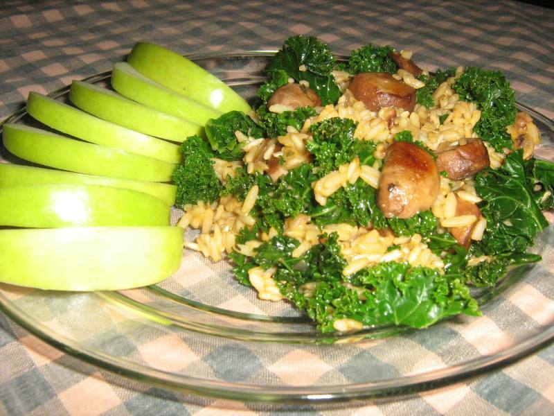 Seasoned Rice and Kale