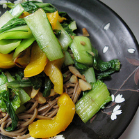 Vegan Soup with Soba Noodles