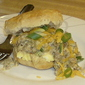 Sausage Gravy Breakfast Sandwiches--another Father's Day idea