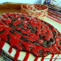 Chocolate Raspberry Peach CHEESECAKE