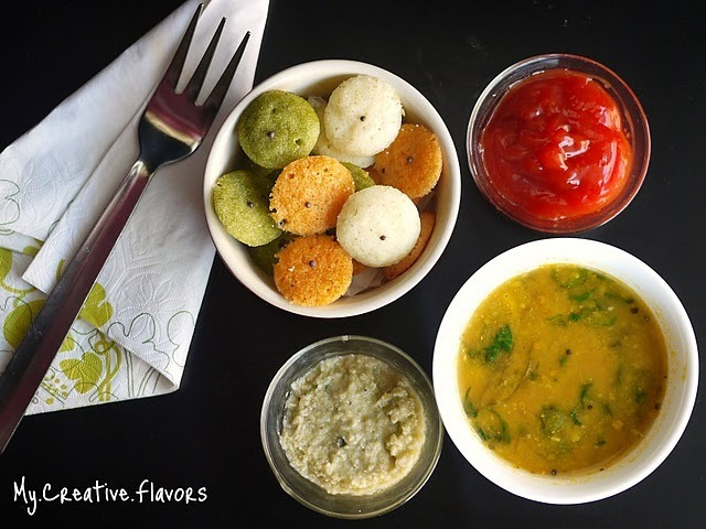 Colorful Organic Rava Idlis