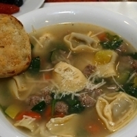 Simple Tortellini Soup with Sausage and Fresh Spinach