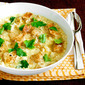 Garlic Comma Bread Soup with Rosemary & Egg