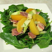 Mustard Dressed Peach Salad
