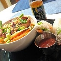 Gluten Free Recipe: Vermicelli and Salad Rolls with Peanut Sauce