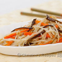 Stir Fried Bean Sprouts, Carrots & Wood Ear Fungus (Post Chinese New Year)