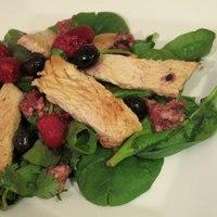 Honey Turkey Salad with Avocado Berry Dressing