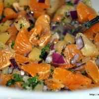 Sunday Dinner! Baked Salmon with Mandarin Orange and Pineapple Salsa