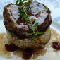 Spiced pork medallions with cranberries
