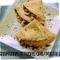 Crespelle di farina integrale con funghi e patate