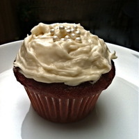 Red Velvet Cupcake with Coconut Cream Cheese Frosting